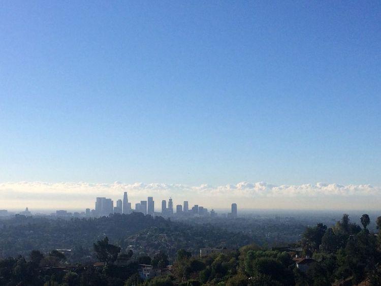 Hiking Los Angeles, California DTLA Skyline
