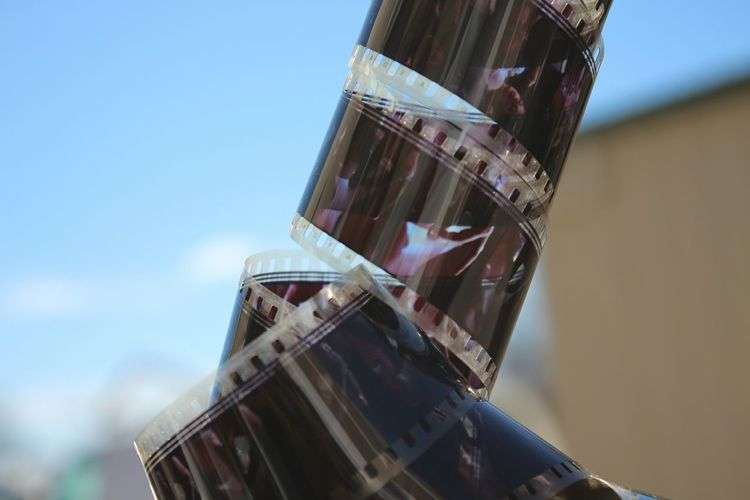 Close-up of film reel