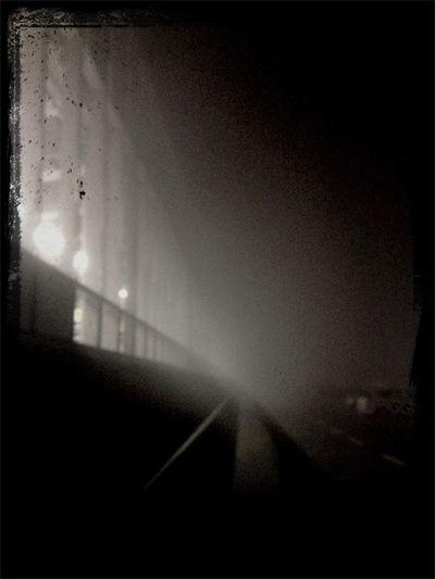 Foggy night at Technogym Village