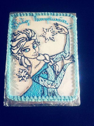 Cake♥ Frozen Elsa♡