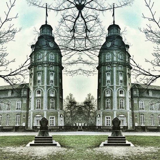 Karlsruheschloss Kult Karlsruhe Schloss Spiegel Park Himmel Historisch Rasen Wolken Traum Dream Dreamwithinadream Palace Castle Historic Architecture Architektur Clouds Sky Medow Mirror Turm Tower