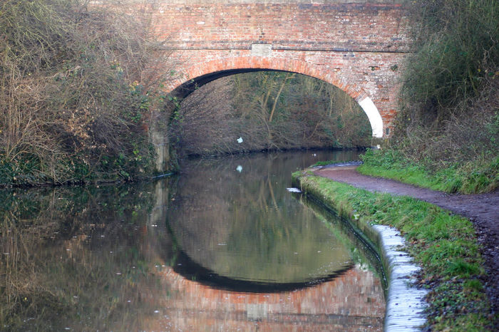 Arch Architecture Beauty In Nature Brickwork  Bridge - Man Made Structure Built Structure Canal Towpath Canals And Waterways Connection Day Footbridge Footpath Nature No People Outdoors Reflection Tardebigge Flight Tree Water Worcestershire