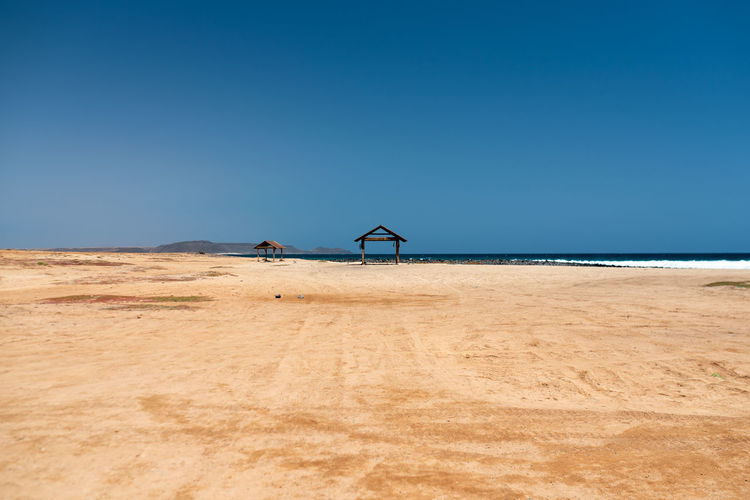 Hoffi99 Sal Cape Verde Beachphotography Sky Land Horizon Beach Nature Scenics - Nature Sea Sand Environment Day Blue Clear Sky Beauty In Nature Copy Space Water Tranquil Scene Horizon Over Water Landscape Tranquility Outdoors No People Climate Arid Climate