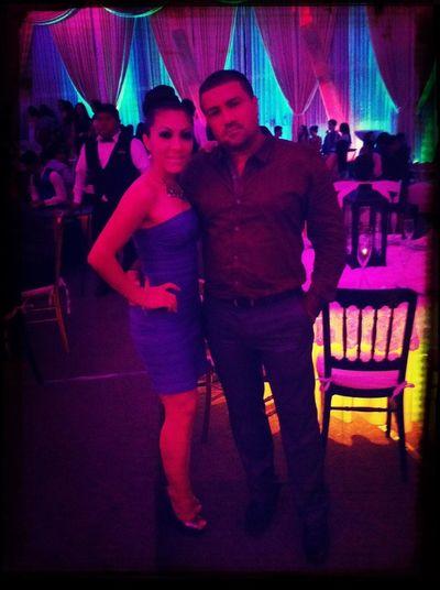 En la fiesta de mi hermosa niña con mi buan acompañante <3 guaperrimos
