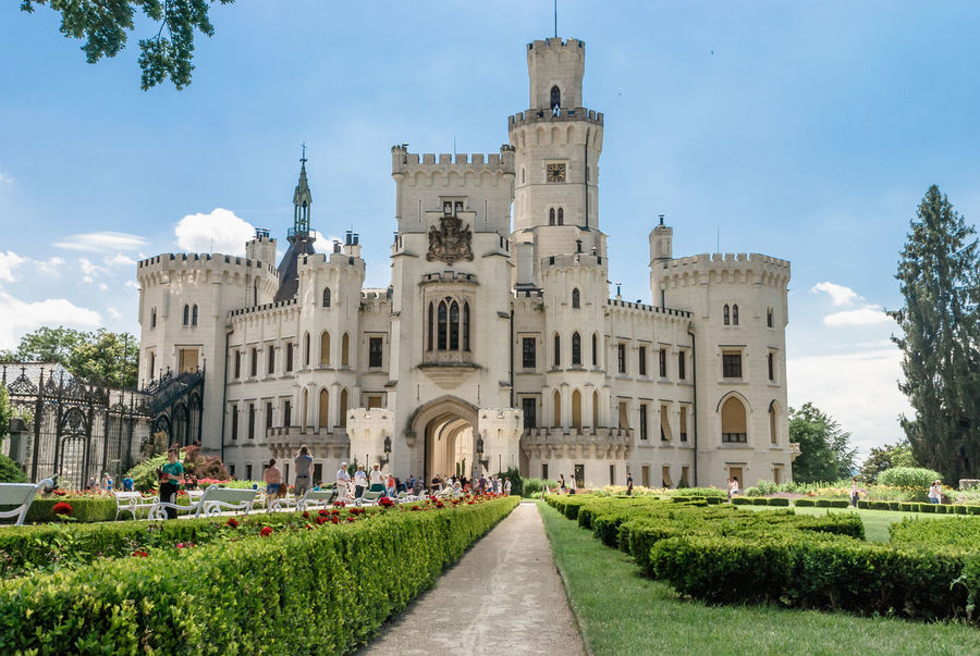 sunny day at Hluboká Castle, one of the most beautiful castles of the Czech Republic Architecture Architecture_collection Beautiful Building Exterior Built Structure Castle View  Casual Clothing Czech Czech Republic Day History Hluboká Hluboká Nad Vltavou Hluboká Nad Vltavou • Zámek Landscape Landscape_Collection Moldavia Nature Outdoors Plant Sky Tourism Travel Travel Destinations Tree