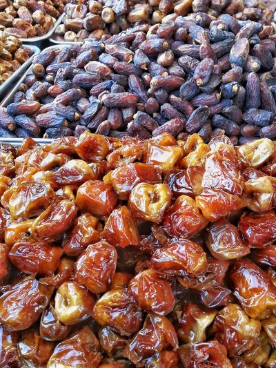 Dates Sweet Sticky Nutritious Delicious Market Travel Saudi Arabia Fruit Healthy Food