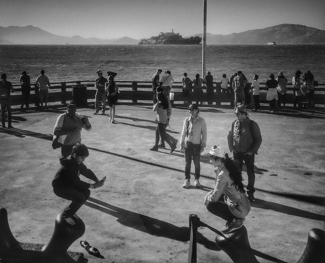 Karate Kids Streetbw Streetphotography Road Trip Sea View