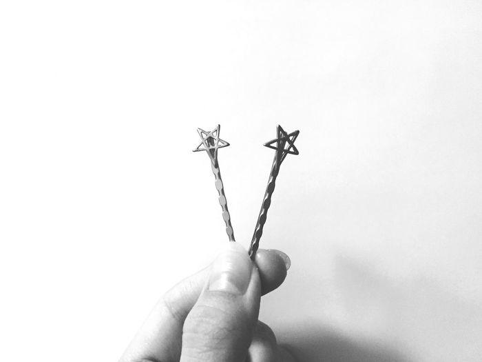 星のヘアピン買いました★ Stars Hairpin Fashion Blackandwhite Monochrome
