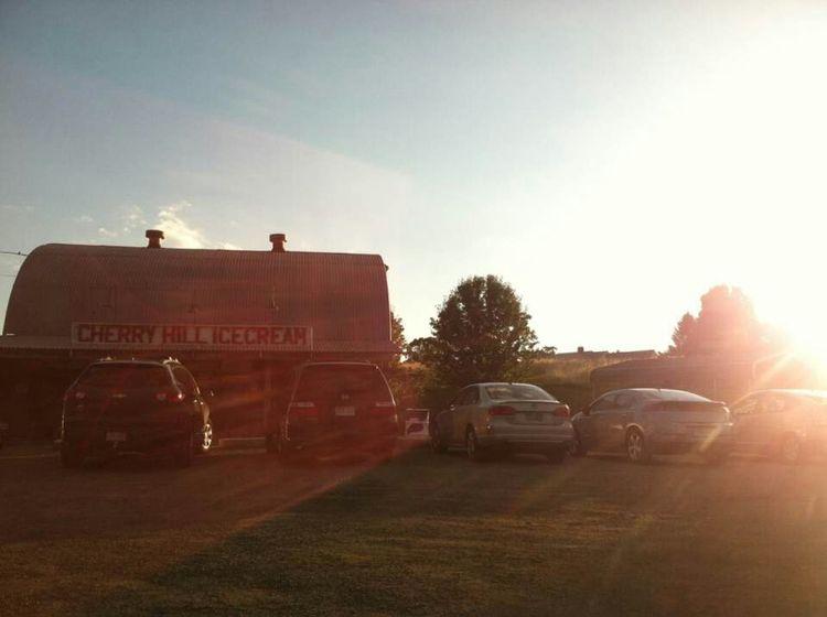 Ice Cream Cherry Hill Cars Farm Sunset Leominster Lunenburg Sun