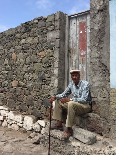 One Person Adult People Day Men Scenics Real People Old Man Sitting Waiting