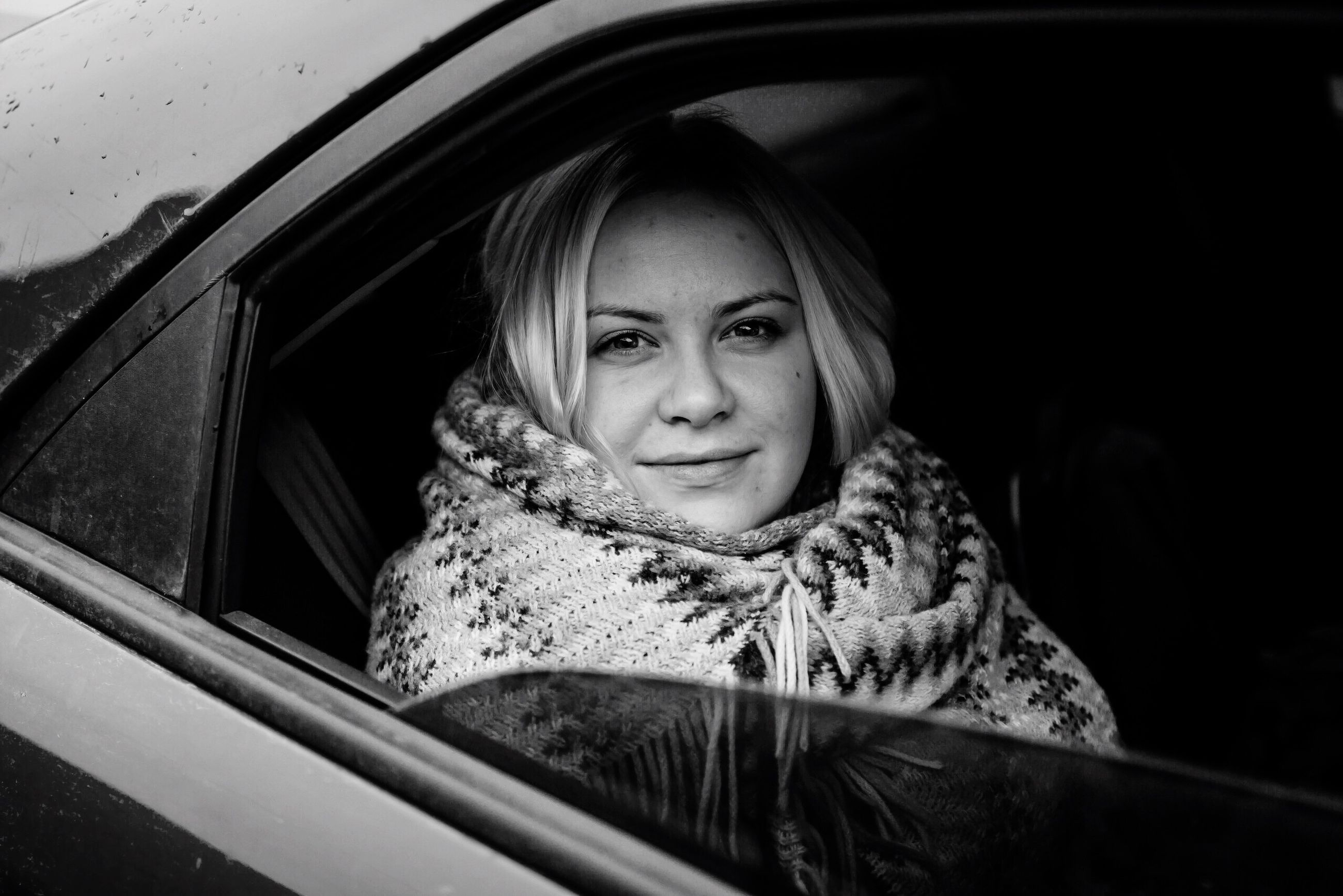 car, transportation, looking at camera, mode of transport, portrait, lifestyles, travel, land vehicle, car interior, headshot, beautiful woman, women, leisure activity, one person, young women, real people, one woman only, smiling, adult, only women, young adult, outdoors, day, adults only, people