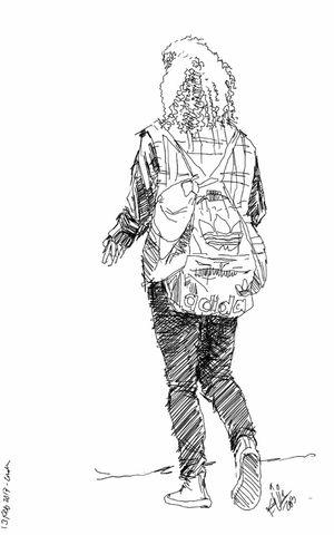 Street Urban Girl Sketch Kaay