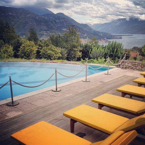 By the pool LakeGarda Italy Villaarcadia Poolside