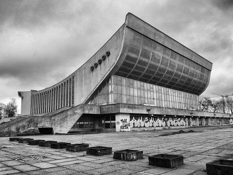 Sports Palace, Lithuania Vilnius SportsCenter Modernist Concrete