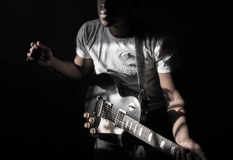EyeEmNewHere Self Portrait Portrait Guitar Shadow And Light