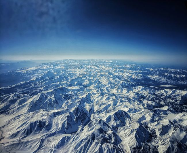 Sky view of mammoth lakes.