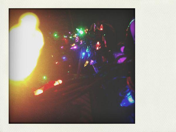 Christmas lights - pretty lights Christmas Lights Streetlights Colors Pretty♡