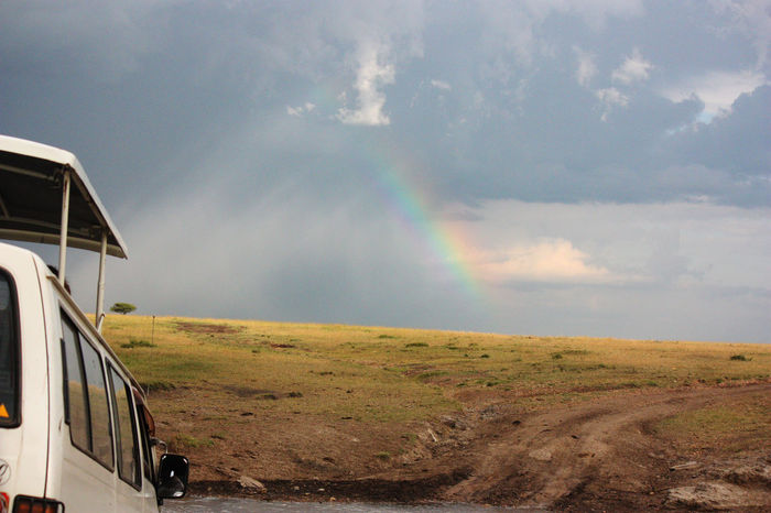 Adventure Africa Beauty In Nature Country Road Day Kenya Landscape Masi Mara Matatu Mud Road Nature No People Outdoors Rainbow Remote Safari Scenics Sky Tranquility Travel