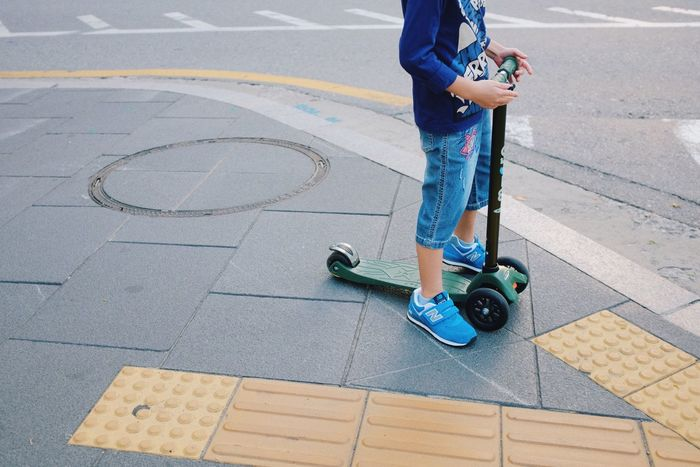 Low Section Human Foot Street Outdoors Childhood Child Kid