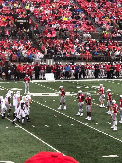 Ohio State Football Football Game Football Stadium College Football Group Of People Real People Crowd Large Group Of People Men Plant Sport Playing