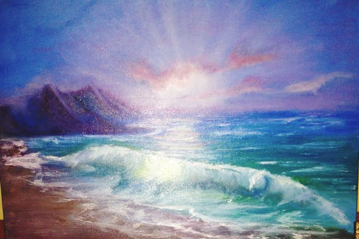 Follow the Sun Art Sea Oil Painting