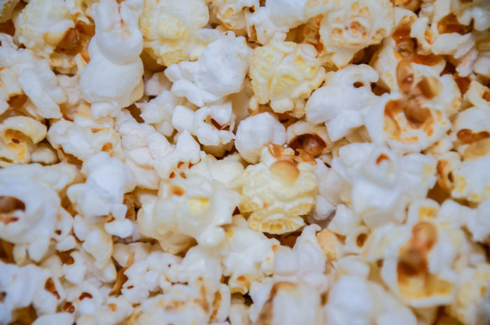 Close up view of some popcorn Popcorn Snack Snacking Backgrounds Close-up Food Food And Drink Full Frame Indoors  No People Ready-to-eat Taste Tasty Treat Unhealthy Eating