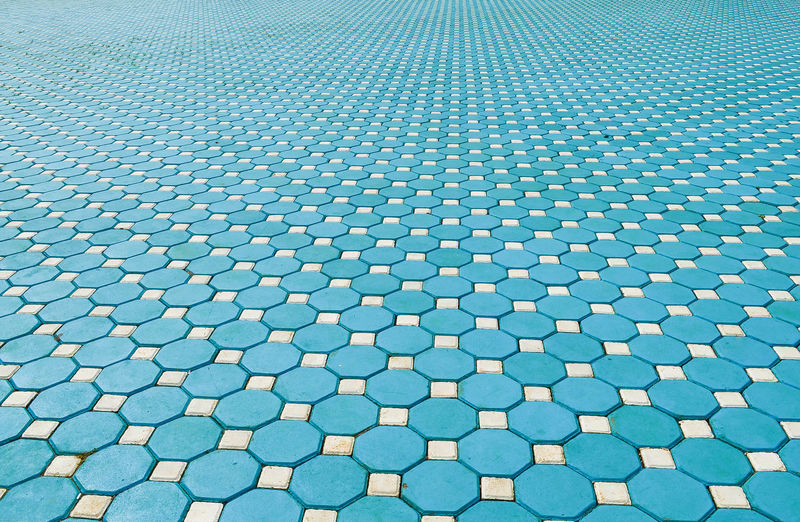 Full frame shot of patterned walkway