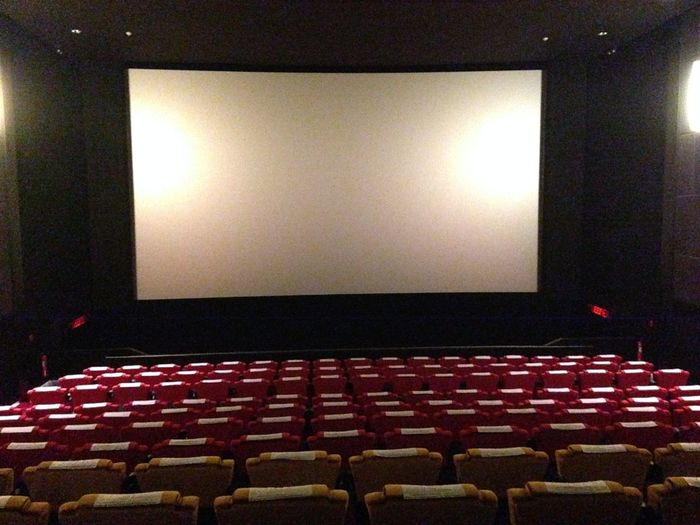 Arts Culture And Entertainment Auditorium Cinema Film Industry In A Row Indoors  MOVIE No People Projection Screen Seat Stage - Performance Space Theater