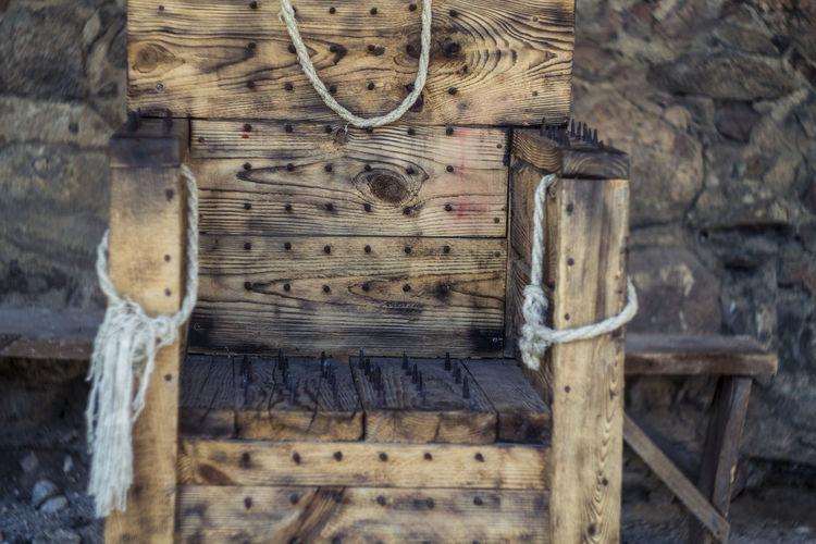 Belarus Castle Chair Lida No People Old Torture Wood Wood - Material Wooden