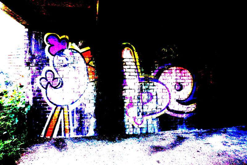 Art ArtWork Beak Bird Bridge - Man Made Structure Bridge Wall Close-up Creativity Day Design Floor Graffiti Illuminated Multi Colored No People Outdoors Pink Polarizing Filter Street Art White Colour Of Life