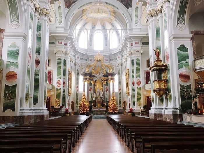 Religion Place Of Worship Architectural Column Indoors  Statue Architecture No People Day History Jesuitenkirche God Belive Architecture Spirituality Built Structure Place Of Worship Indoors