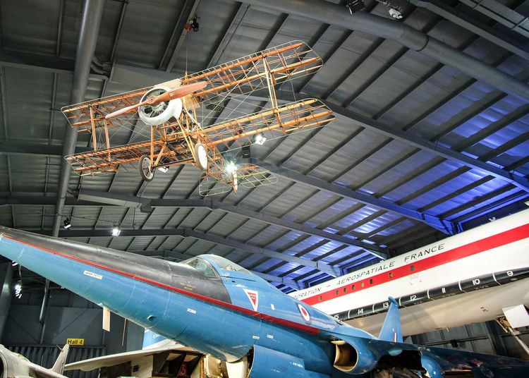 Low Angle View Built Structure Indoors  Architecture No People Day Planes Plane Mueseum Aviation