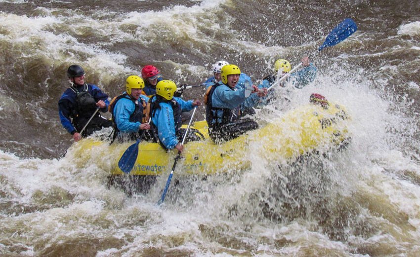 White Water Rafting in Northern Colorado Enjoying Life Nature Water And Sky