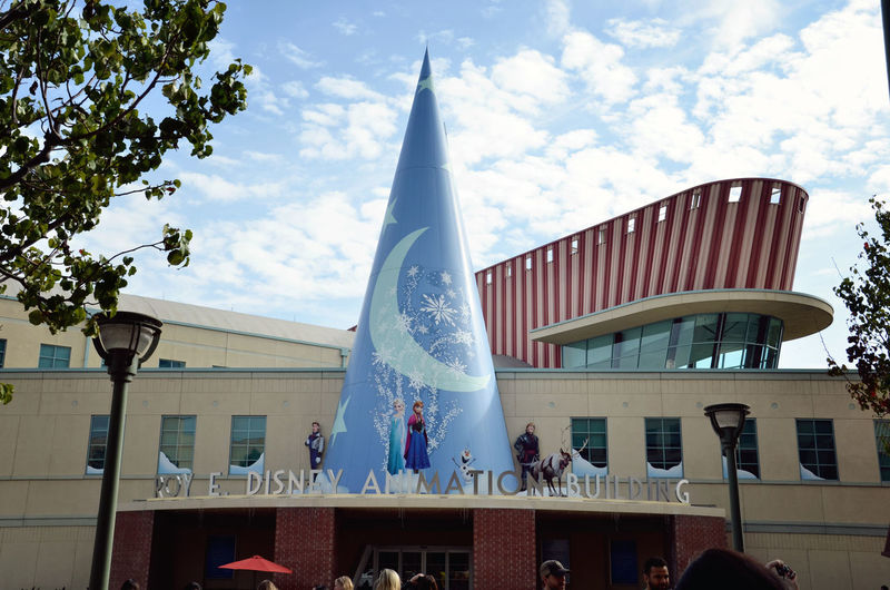 Disney Animation Studios Animation Architectural Feature Architecture Blue Built Structure California City Cloud Cloud - Sky Disney Disney Animation Studios Entertainment Famous Place Hollywood Low Angle View Movies No People Sky Tall - High Tourism Travel Destinations