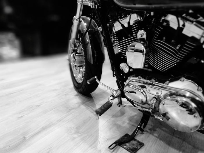 Close-up of motorcycle