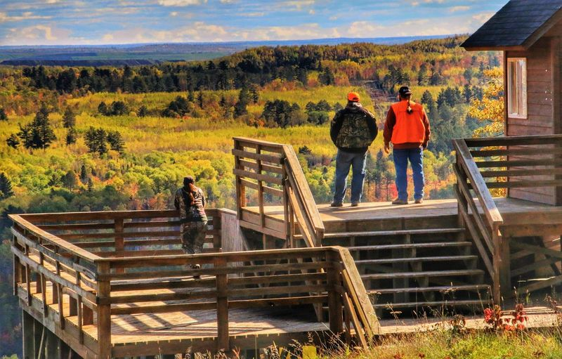 People And Places Enjoying the fall colors @ Giants Ridge Sky Mountain Outdoors Scenics Tranquility Tranquil Scene Cloud - Sky Autumn