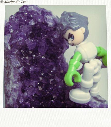 EyeEmNewHere Polaroid Geode Amethyst Stone Steampunk Littlesteamboy Galaxy Stone Macrophotography