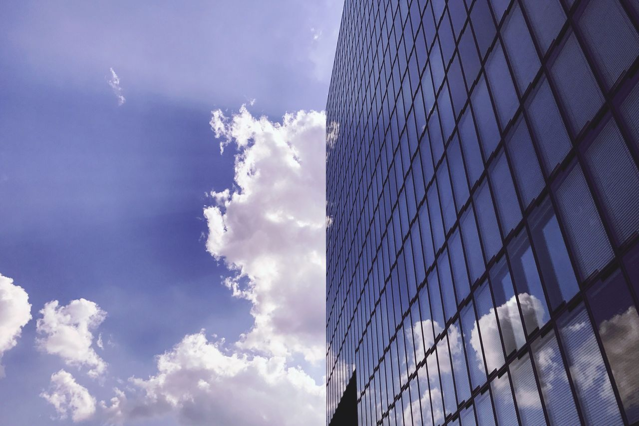 sky, architecture, low angle view, building exterior, day, no people, skyscraper, built structure, modern, cloud - sky, outdoors, city, nature