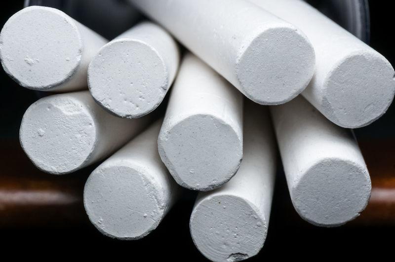 Close-up of white chalks