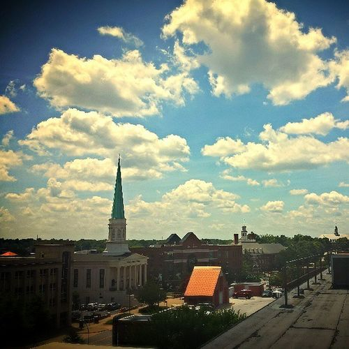 It's a beautiful day in the neighborhood Greenville Greenvillesouthcarolina Galaxys4 Rooftop