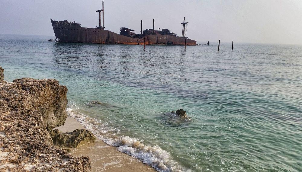 Greek ship 🚢 Ship Kish Island Sea Persian Gulf Persian Gulf Forever Trip Irantravel Iran Greek Ship Greek Greece