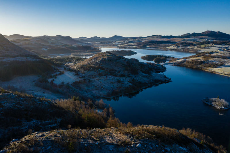 Norway Norway🇳🇴 Beauty In Nature Mavic 2 Pro Frost EyeEm Best Shots EyeEm Nature Lover Mountain Scenics - Nature Tranquil Scene Sky Tranquility Water Lake No People Mountain Range Nature Environment Day Non-urban Scene Landscape Blue Idyllic Clear Sky Remote Outdoors