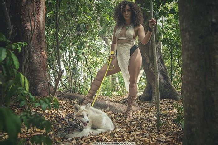 Photooftheday Janeofthejungle Jane of the Jungle Photo Shoot sunny Miami Concept Designer  Me Gorgeous Model @jossievdoll Modeling Sexy Curvy @unico_cindyj Mua n Ghost Fox @lavongittens Pose Shot Photography Dm for Booking south florida photographer peterparkerphotos.com