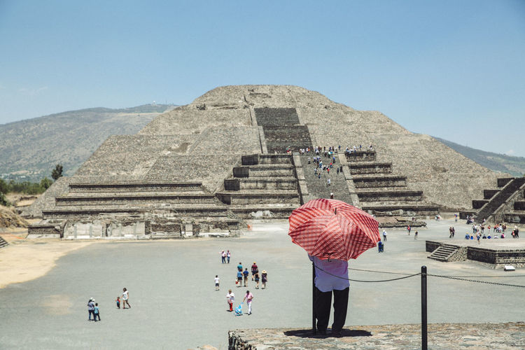 Ancient Ancient Civilization Archaeology Architecture Building Exterior Built Structure History Men Mexico Moonpiramid Nature Old Ruin Outdoors Pyramid Real People Teothiuacan, The Past Tourism Travel Travel Destinations