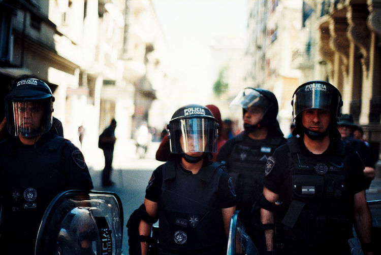 Buenos Aires Cops Police Motorcycle Policia Federal Polizei Argentina Police Politics And Government Portrait Represion Repression Street Photography Streetphotography First Eyeem Photo