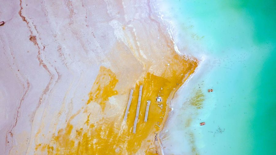 Slow death of dead see. 30 years ago everywhere here was water. Dronephotography Death See Ecological Footprint Ecology Problem Ecological Disaster Human Influence EyeEm Selects Multi Colored Backgrounds Yellow Abstract Paint Textured  Close-up Impact Abstract Backgrounds