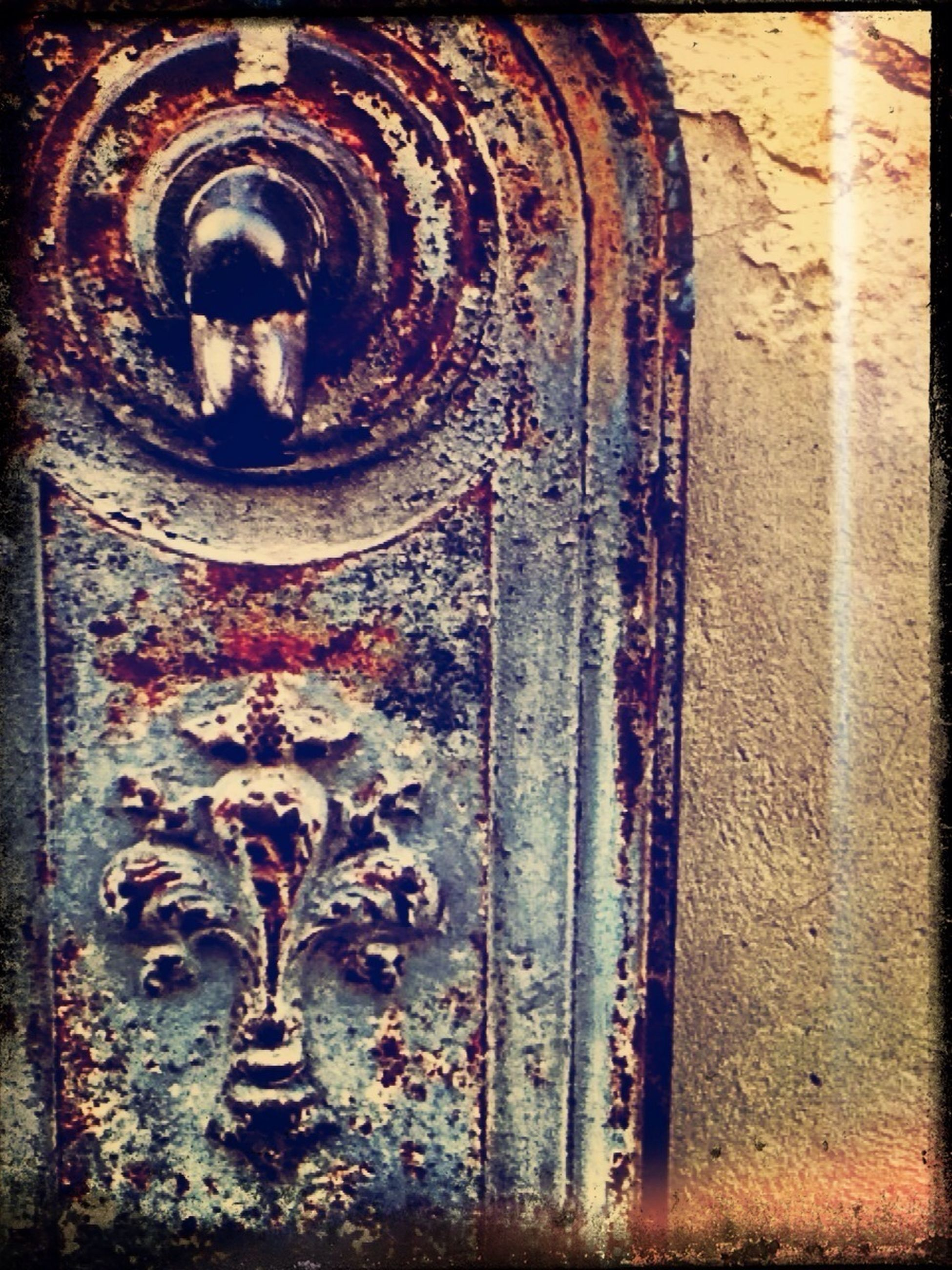 old, built structure, wall - building feature, door, architecture, weathered, art and craft, graffiti, metal, building exterior, art, close-up, abandoned, damaged, run-down, creativity, deterioration, closed, rusty, obsolete
