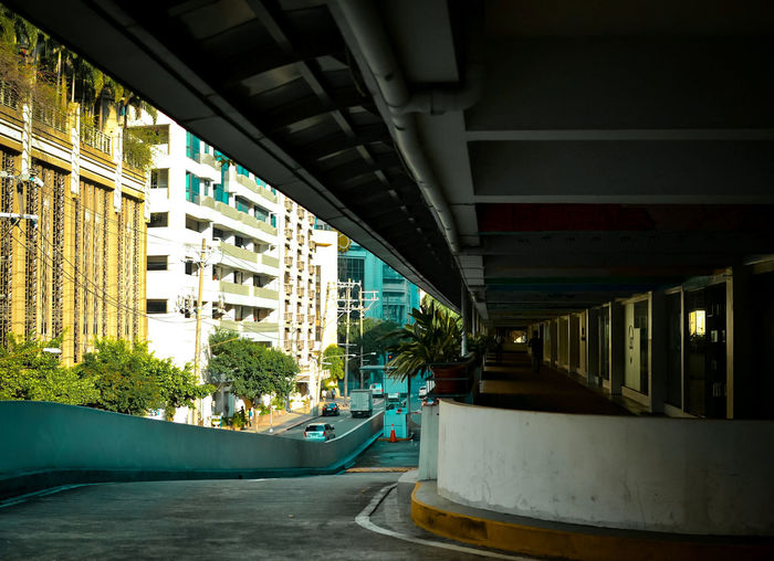 Angle. Architecture Built Structure Bridge - Man Made Structure Building Exterior Connection City City Life Cityscape No People Outdoors Modern Urban Skyline Day Makati City, Philippines Makati City, Philippines. Philippine City Philippines Cityscape Architecture