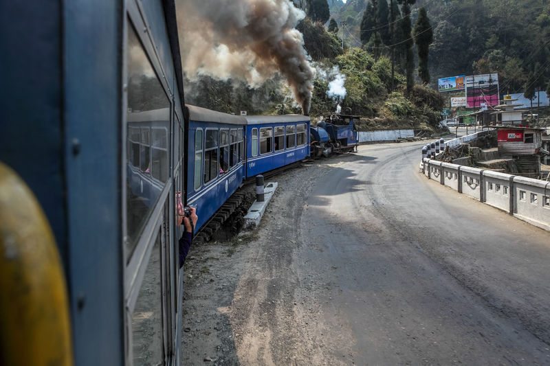 Transportation Mode Of Transport Land Vehicle Outdoors Day No People Streetphotography Technology Smoke Speed Historical World Heritage Heritage India Toy Train Steem Engine Rail Engine Rail Transportation Transport Train Smoke Darjeeling Darjeeling Rail Darjeeling Himalayan Railway