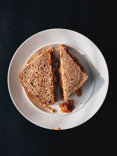 Food Photography Peanut Butter And Jelly Peanut Butter Peanutbutterandjelly  Sandwich EyeEm Selects Plate Food Food And Drink Dessert Sweet Food Black Background Indulgence No People Ready-to-eat Directly Above Indoors  Close-up Love Yourself